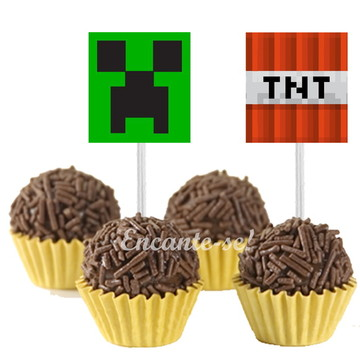 Toppers para doces Minecraft