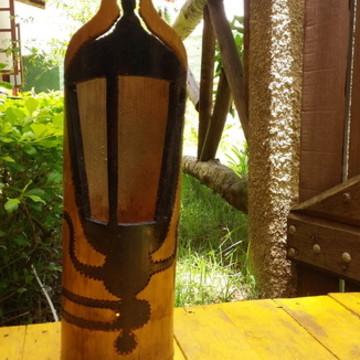 Luminária de bambu arandela