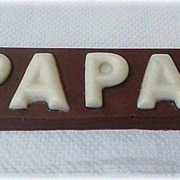 Barrinhas de chocolate papai
