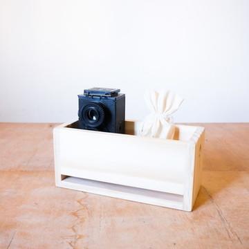 Caixa de Madeira Pinus: Pequena Organizador