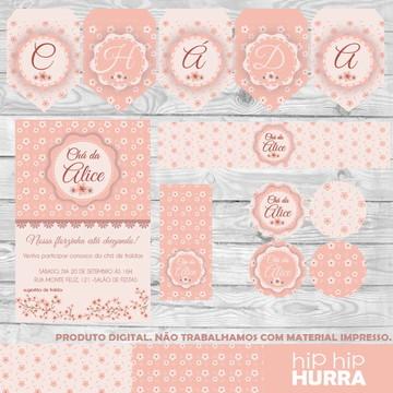 Kit Chá de Bebê - Flor de Cerejeira
