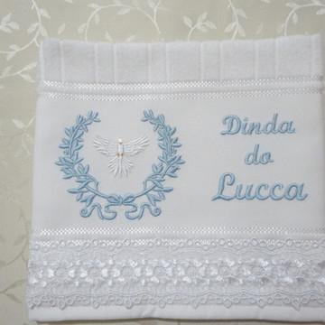Toalha Batizado Dinda e Dindo