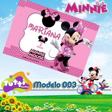 CONVITE MINNIE - MODELO 003