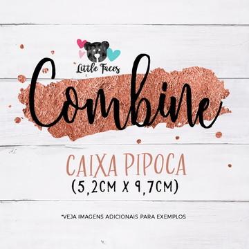 Caixinha Pipoca Combinando c/ Convite