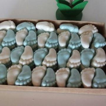 100 Sabonetes mini pezinhos avulsos