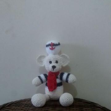 Urso marinheiro de croche amigurumi