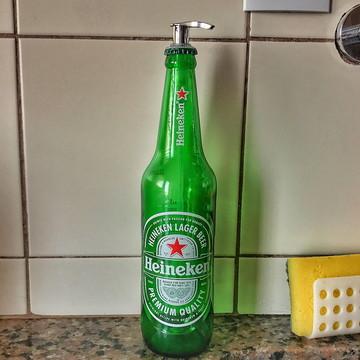 Saboneteira de garrafa Heineken - Válvula Prata