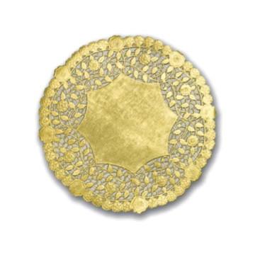 Doilie / Papel rendado Dourado 10 cm