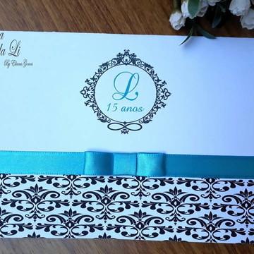 PROMOÇÃO Convite 15 anos /Casamento/Tiffany/Preto