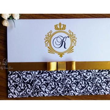 Promoção Promoção Convite Casamento 15 Anos Dourado