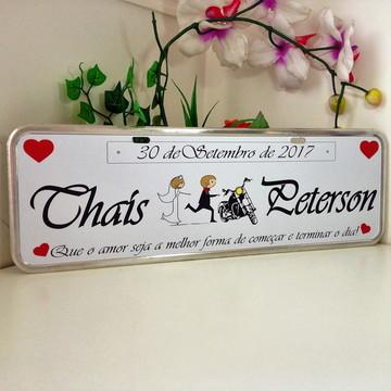Placa personalizada noivas casamento AÇO