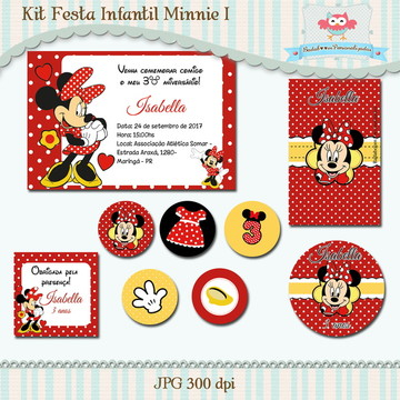 Kit Festa Infantil Minnie I