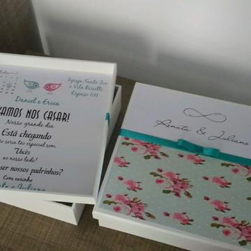 Caixa MDF p/ convite padrinhos 20x20x5