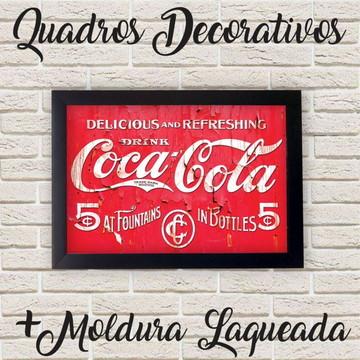 Quadro Coca-Cola Vintage Retrô + Moldura