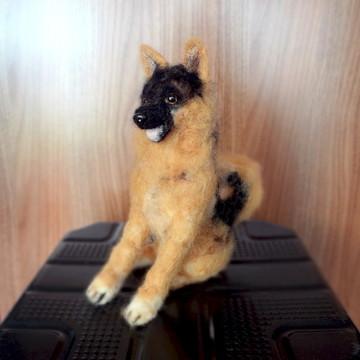Pastor Alemão - Miniatura de cachorro