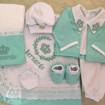 Saída de maternidade verde bebê