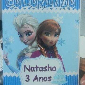 Livro de Colorir Frozen Lembrancinha com Giz