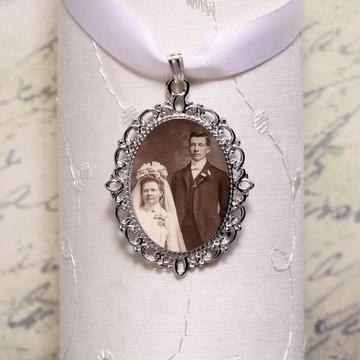 Relicario medalha pingente com sua Foto