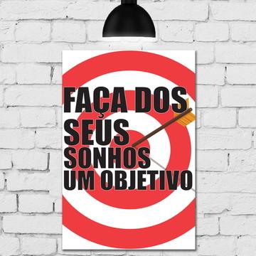 Placa Decorativa Frases Motivacionais Sonhos 20x30cm