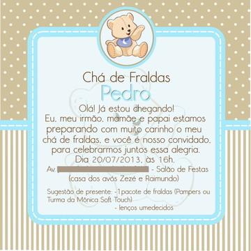 """Convite """"Chá de Fralda"""""""