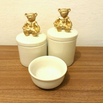 Kit urso porcelana