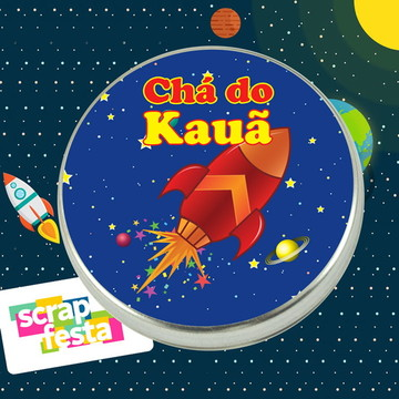 Latinha Personalizada Festa Espaço