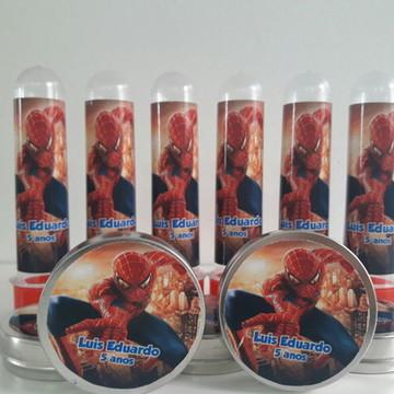 kit tubete e latinha homem aranha