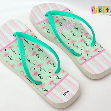 Chinelo - Flamingos