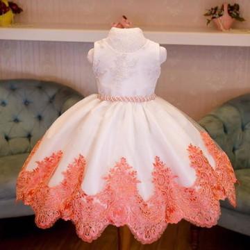 Vestido de Renda Francesa para Daminhas