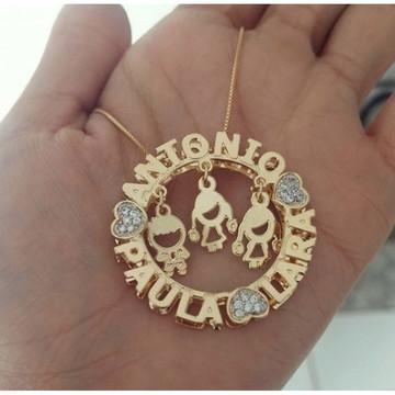 Gargantilha Mandala Personalizada