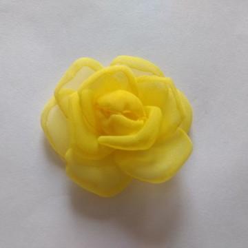 Flores em tecido Voil 6cm
