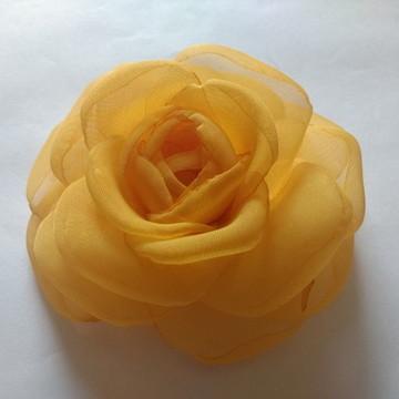 Flores em tecido Voil 10cm