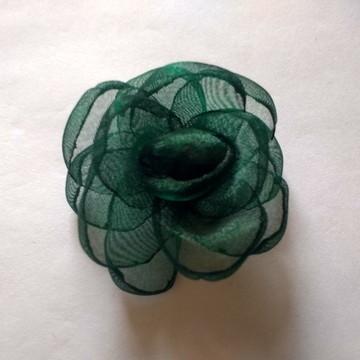 Flores em tecido Organza 3cm