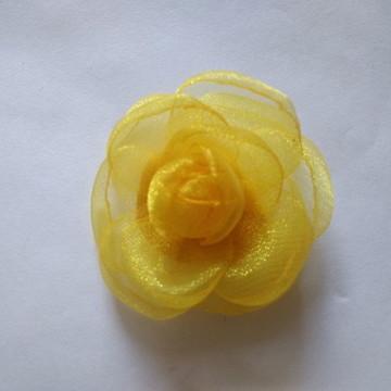Flores em tecido Organza 4cm