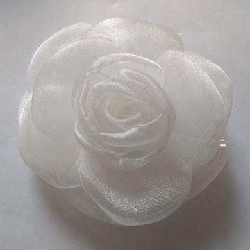 Flores em tecido Organza 7cm