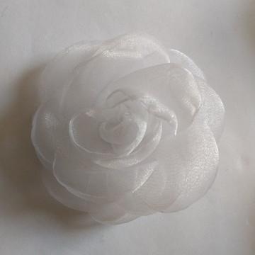 Flores em tecido Organza 9cm