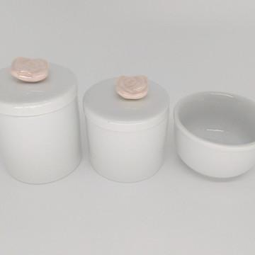 Kit Higiene Bebê Porcelana Flor