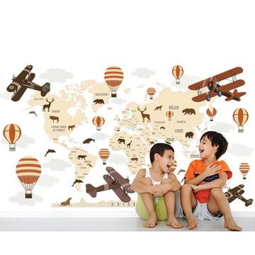 Adesivo Mapa Mundi infantil Bebê M100