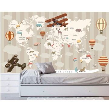 Adesivo Mapa Mundi infantil Bebê M103