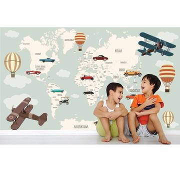 Adesivo Mapa Mundi infantil Bebê M107