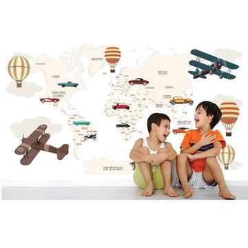 Adesivo Mapa Mundi infantil Bebê M110
