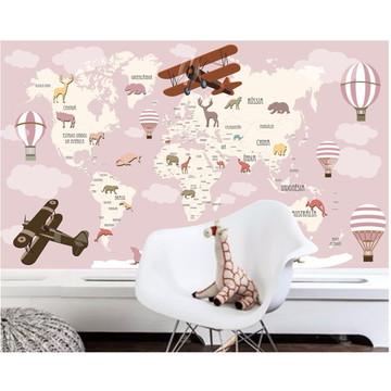 Adesivo Mapa Mundi infantil Bebê M112