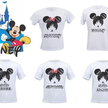 Kit de festa e viagem com 5 camisas personalizadas
