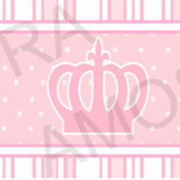 Faixa Adesiva Coroa Rosa com Nome