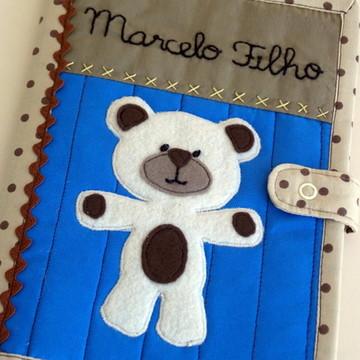 Capa de Caderneta de Vacinação tecido - urso