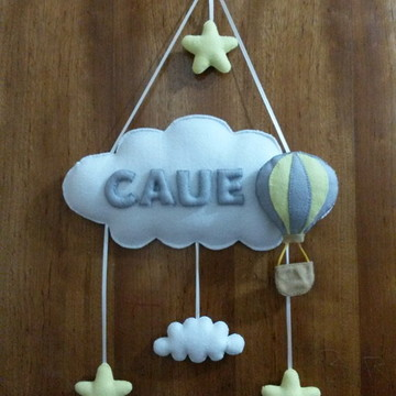 Enfeite Maternidade -Nuvem e Balao