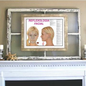Poster mapa de Reflexologia Facial 30x42