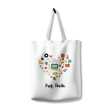 Bolsa Ecobag Coração Professor