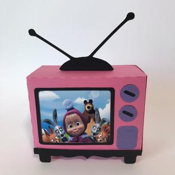 Caixa televisão masha e urso