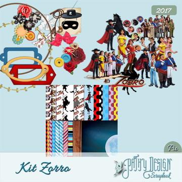 Kit Scrapbook Digital Zorro